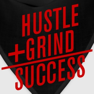 HUSTLE+GRIND=SUCCESS Long Sleeve Shirts - Bandana