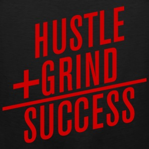 HUSTLE+GRIND=SUCCESS Long Sleeve Shirts - Men's Premium Tank