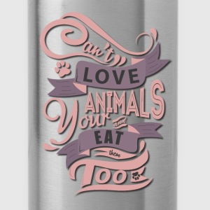 Premium Tank Top for Animal Lovers - Water Bottle