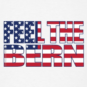 Feel the Bern American Flag - Men's T-Shirt