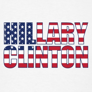 Hillary Clinton American Flag - Men's T-Shirt