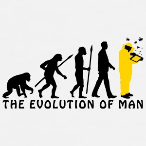 evolution_of_man_beekeeper_2c Mugs & Drinkware - Men's Premium T-Shirt