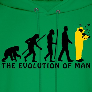 evolution_of_man_beekeeper_2c T-Shirts - Men's Hoodie