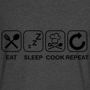 Eat Sleep Cook Repeat Hoodies - Men's Long Sleeve T-Shirt