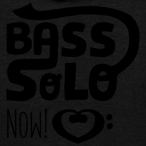 Bassist Shirt retro, Bass Solo Now! - Unisex Fleece Zip Hoodie by American Apparel