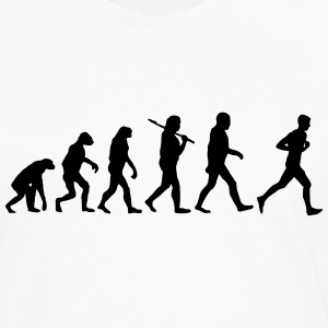 evolution of jogging T-Shirts - Men's Premium Long Sleeve T-Shirt