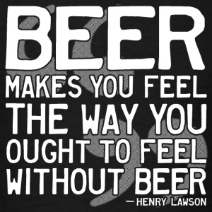 Henry Lawson Beer Quote Tanks - Men's T-Shirt