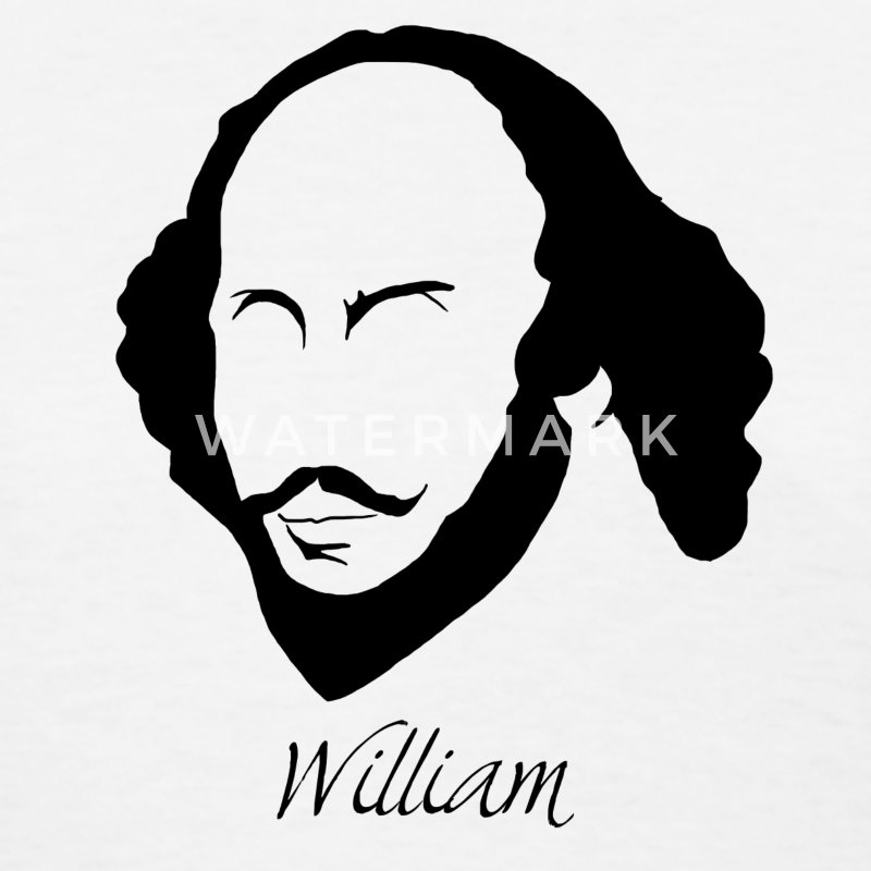 William Shakespeare Silhouette & Hirsute - Women's T-Shirt