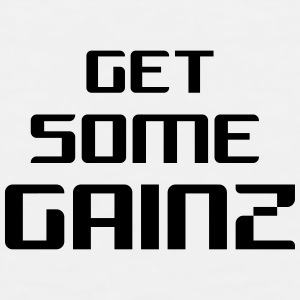 White Get Some Gainz Mug - Men's Premium Tank