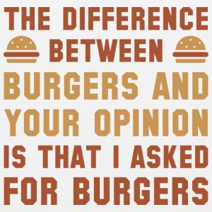 Burgers And Your Opinion - Men's Premium Tank