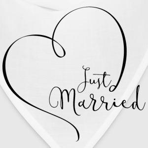 Just Married Tshirt - Bandana