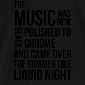 music black polished chrome techno acid DJ club  Tanks - Men's Premium T-Shirt