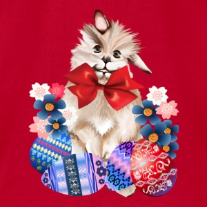 EASTER BUNNY-EGGS n' FLOWERS - Men's T-Shirt by American Apparel