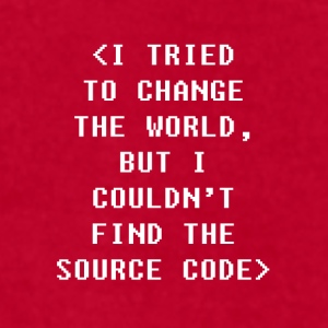 Couldn't find the source code Programmers T Shirt Mugs & Drinkware - Men's T-Shirt by American Apparel