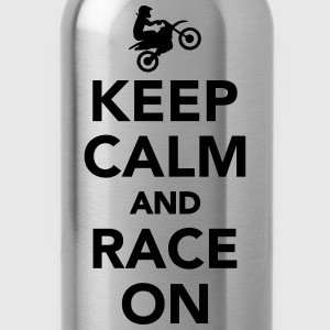 Keep calm and race on Women's T-Shirts - Water Bottle