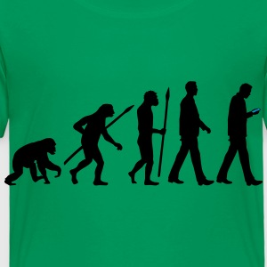 evolution_of_man_smartphone01_2c Kids' Shirts - Toddler Premium T-Shirt