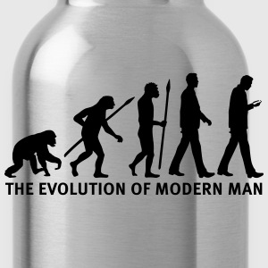 evolution_of_man_smartphone03_1c Women's T-Shirts - Water Bottle