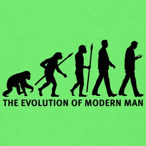 evolution_of_man_smartphone03_1c Baby Bodysuits - Men's T-Shirt