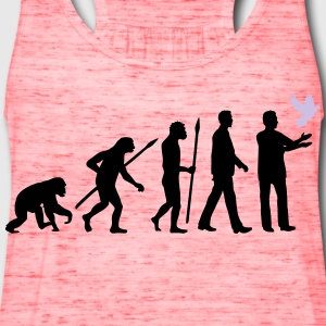 evolution_of_man_taubenzuechter03_2c Women's T-Shirts - Women's Flowy Tank Top by Bella