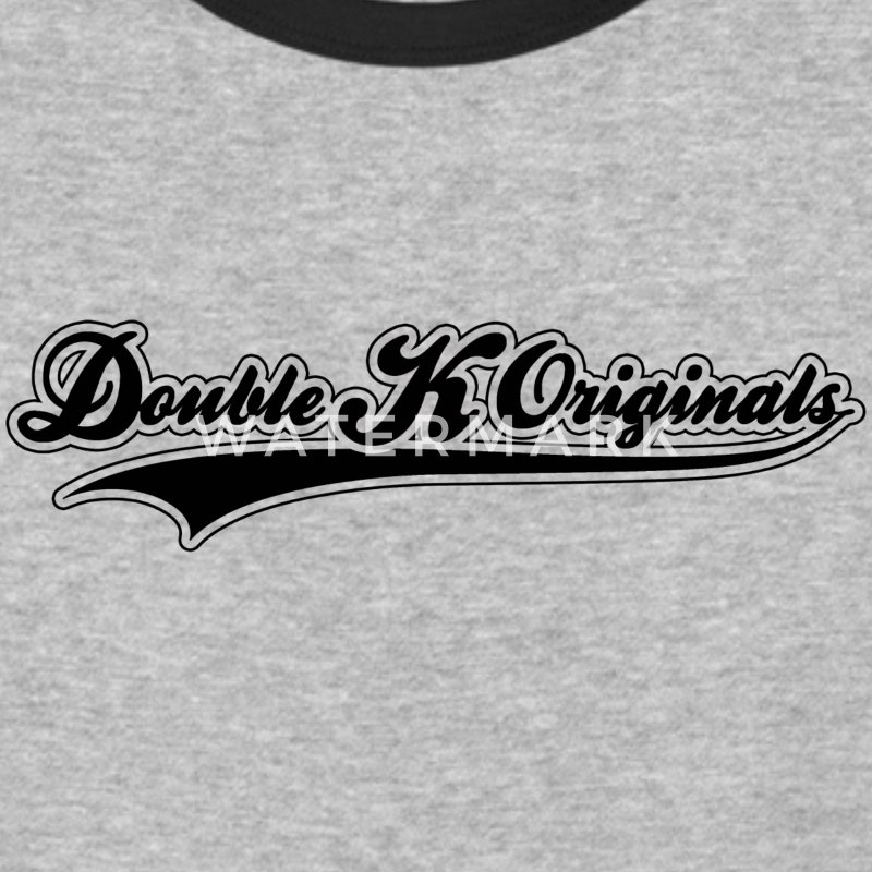 Black, blank & Black Border Double K Originals T-Shirts - Baseball T-Shirt
