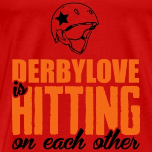 Derbylove is hitting on each other Tanks - Men's Premium T-Shirt