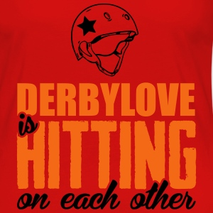 Derbylove is hitting on each other Tanks - Women's Premium Long Sleeve T-Shirt