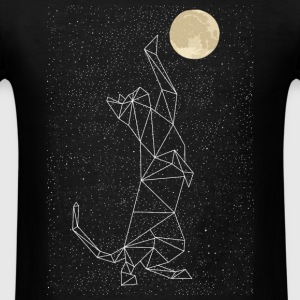Cat Constellation Reaching For Moon Long Sleeve Shirts - Men's T-Shirt