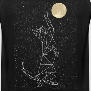Cat Constellation Reaching For Moon T-Shirts - Men's Premium Tank
