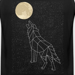 Wolf Howling At Moon Constellation T-Shirts - Men's Premium Tank