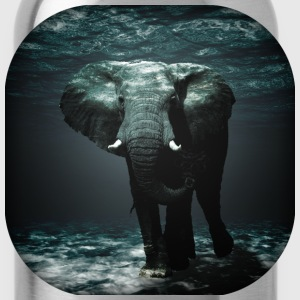 Elephant Underwater - Water Bottle