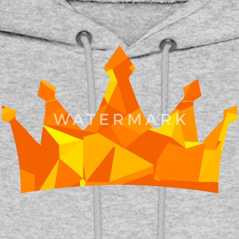 Crown (Low Poly) Hoodies - Men's Hoodie