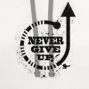 Never give up black T-Shirts - Contrast Hoodie