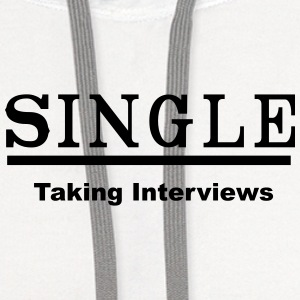 single taking interviews2 Tanks - Contrast Hoodie