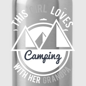 Girl Camping Grandpa Women's T-Shirts - Water Bottle