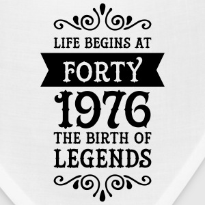Life Begins At Forty - 1976 The Birth Of Legends Women's T-Shirts - Bandana
