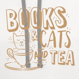 books and cats and tea Baby Bodysuits - Contrast Hoodie