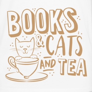 books and cats and tea Baby Bodysuits - Men's Premium Long Sleeve T-Shirt
