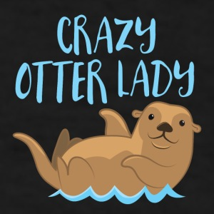 crazy otter lady Mugs & Drinkware - Men's T-Shirt