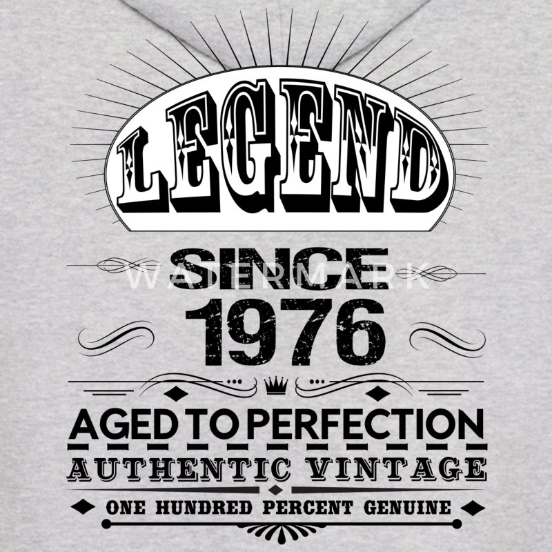 LEGEND SINCE 1976 Hoodies - Men's Hoodie