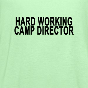 hard_working_camp_director_trucker_hat - Women's Flowy Tank Top by Bella