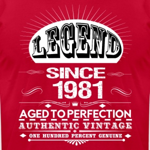 LEGEND SINCE 1981 Hoodies - Men's T-Shirt by American Apparel