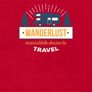 Traveling Wanderlust Traveler T Shirt Mugs & Drinkware - Men's T-Shirt by American Apparel