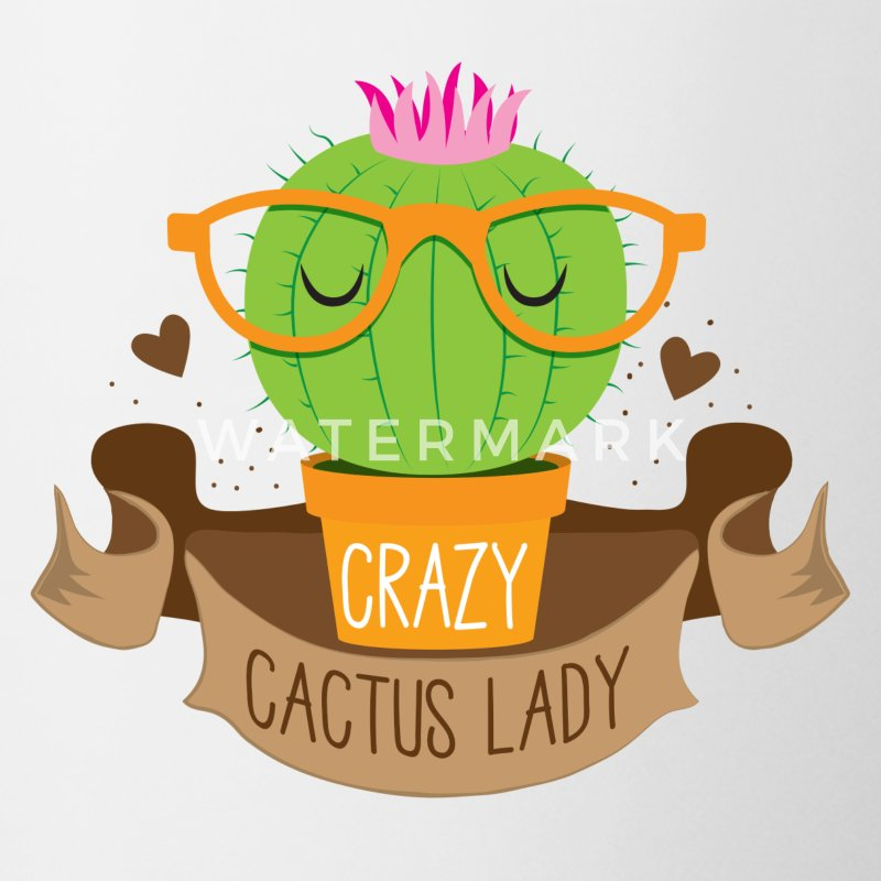 crazy cactus lady banner Mugs & Drinkware - Coffee/Tea Mug