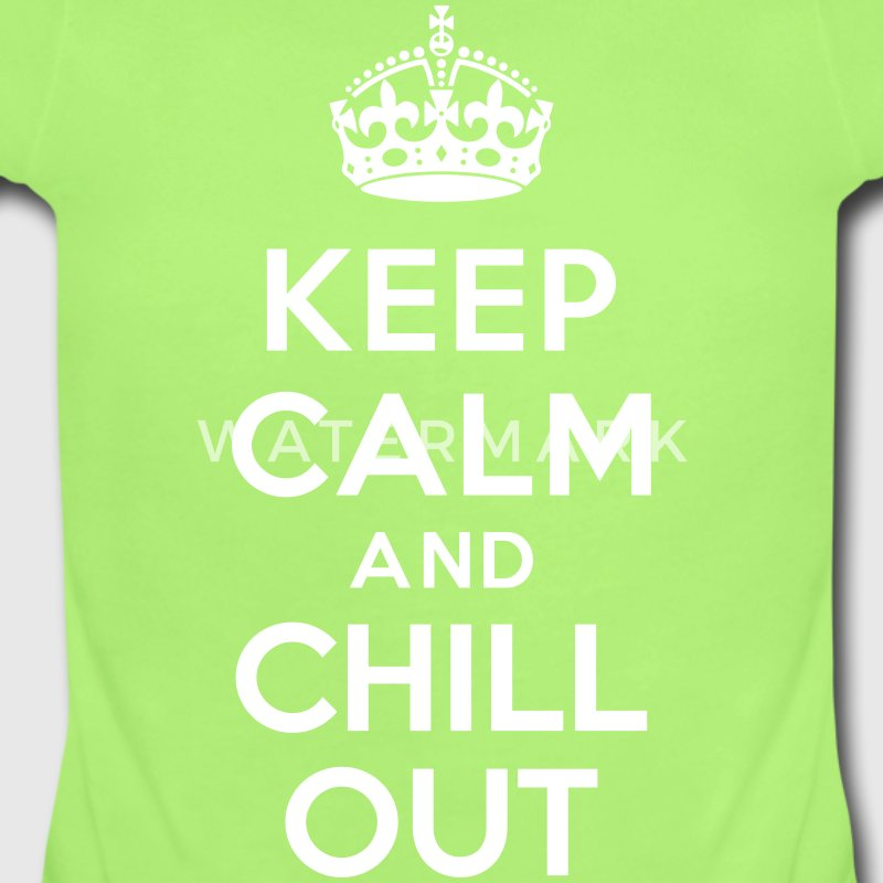 Keep calm and Chill out Baby Bodysuits - Short Sleeve Baby Bodysuit