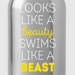 Swims like a beast Swimming T Shirt Women's T-Shirts - Water Bottle