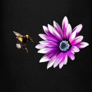 Bumblebee and flower Tanks - Men's T-Shirt