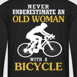 OLD WOMAN WITH A BICYCLE - Men's Premium Long Sleeve T-Shirt