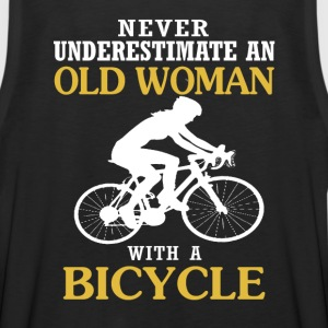 OLD WOMAN WITH A BICYCLE - Men's Premium Tank
