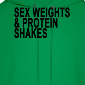 sex_weights_protein_shakes_tshirt_ - Men's Hoodie