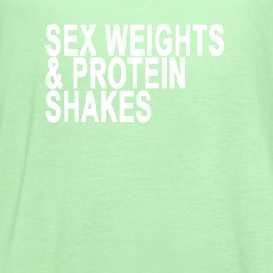 sex_weights_protein_shakes_tshirt_ - Women's Flowy Tank Top by Bella